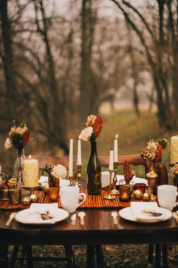 Romance And Warmth 29 Genius Winter Wedding Table