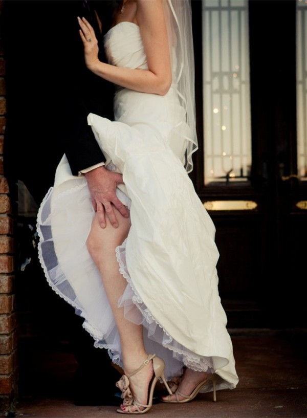 naughty but sexy wedding day picture