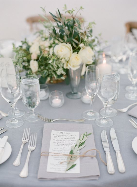 netural wedding color combos for winter wedding decoration