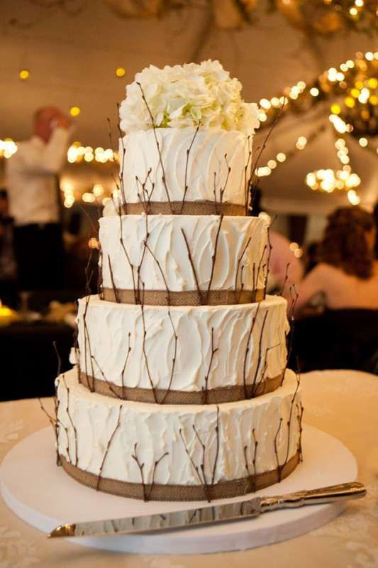 perfect rustic wedding cake for fall or winter wedding