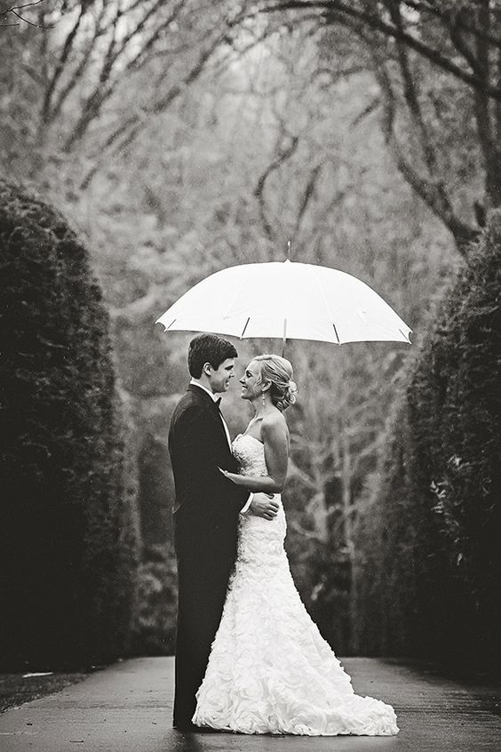rainy photo for fall wedding