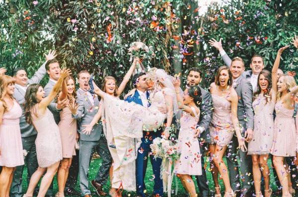 casamento romântico e doce fotowith feliz adiando