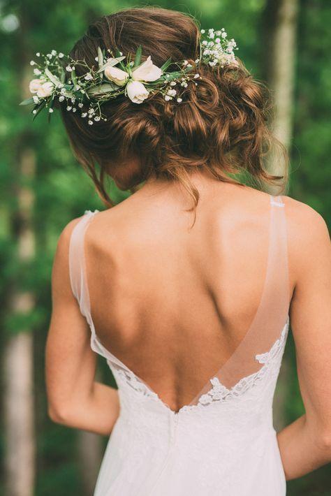 romantic boho bridal hairstyle