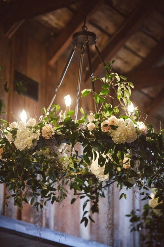 romantic candlelit floral wedding decoration