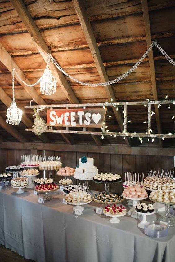 romantic s'more station for winter weddings