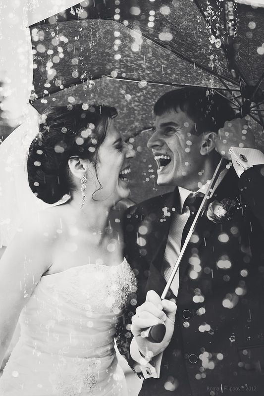seize the moment and take rainy wedding shots like this