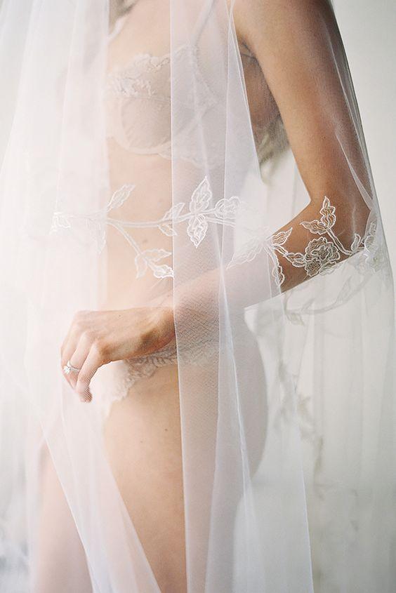 sexy boudoir wedding photo
