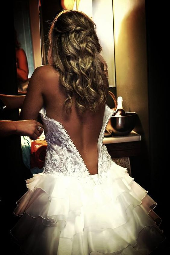 sexy photo of taking your wedding dress off