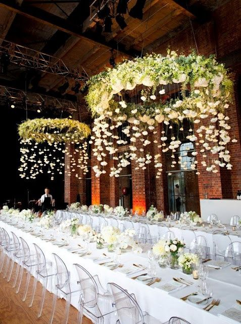 stylish floral wedding chandelier with hanging decor