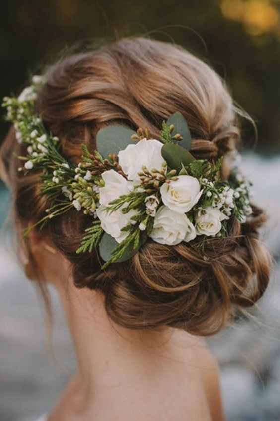 trendy boho bridal hairstyle