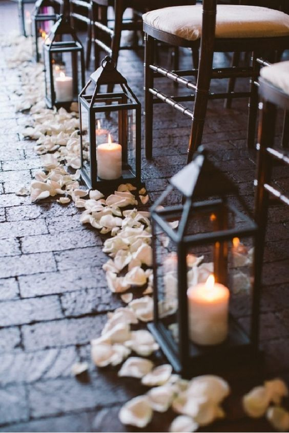 versatile lantern and candle wedding decoration