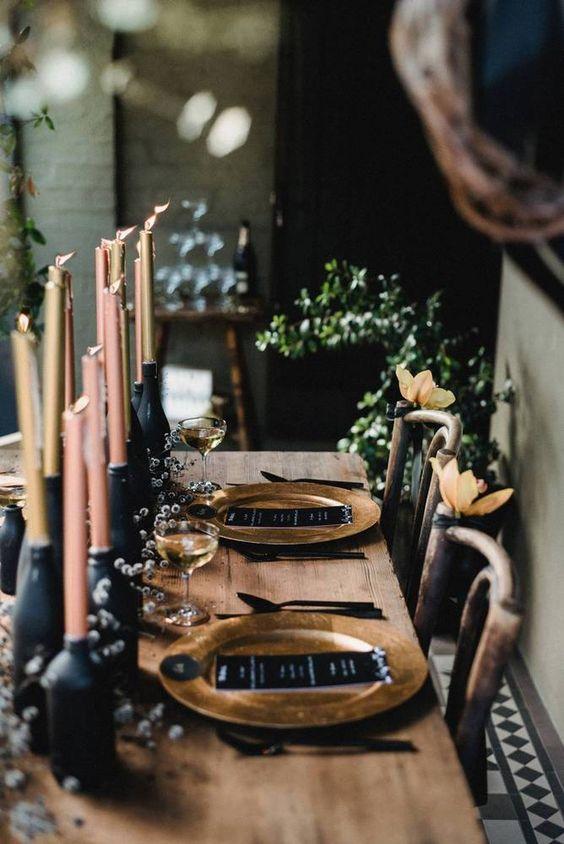 vintage and chic winter wedding decor
