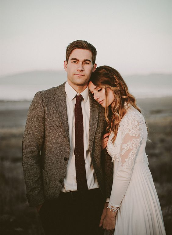 vintage and romantic elopement