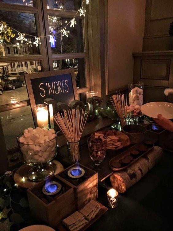 wedding s'more dessert idea
