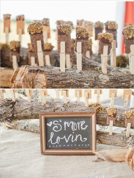 wedding s'more dessert table decoration
