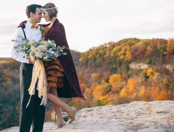 whimsical autumn picnic elopement