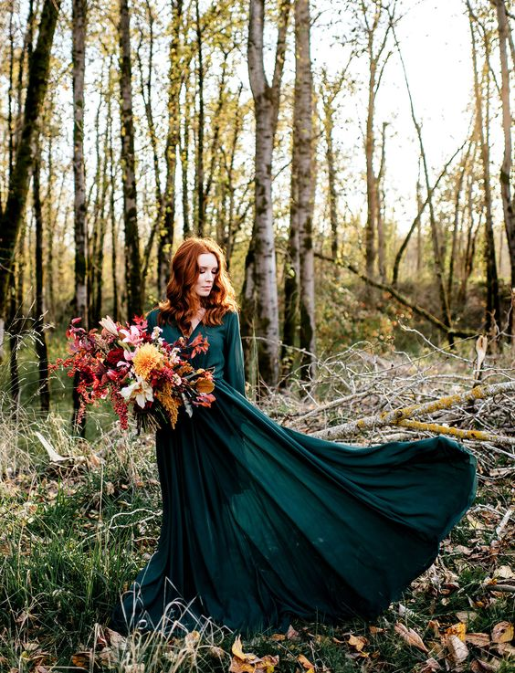 wild autumn wedding elopement