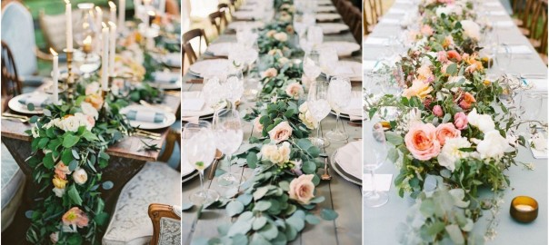 23 Wedding Trend--Unique Floral Wedding Garland Table Runner Ideas