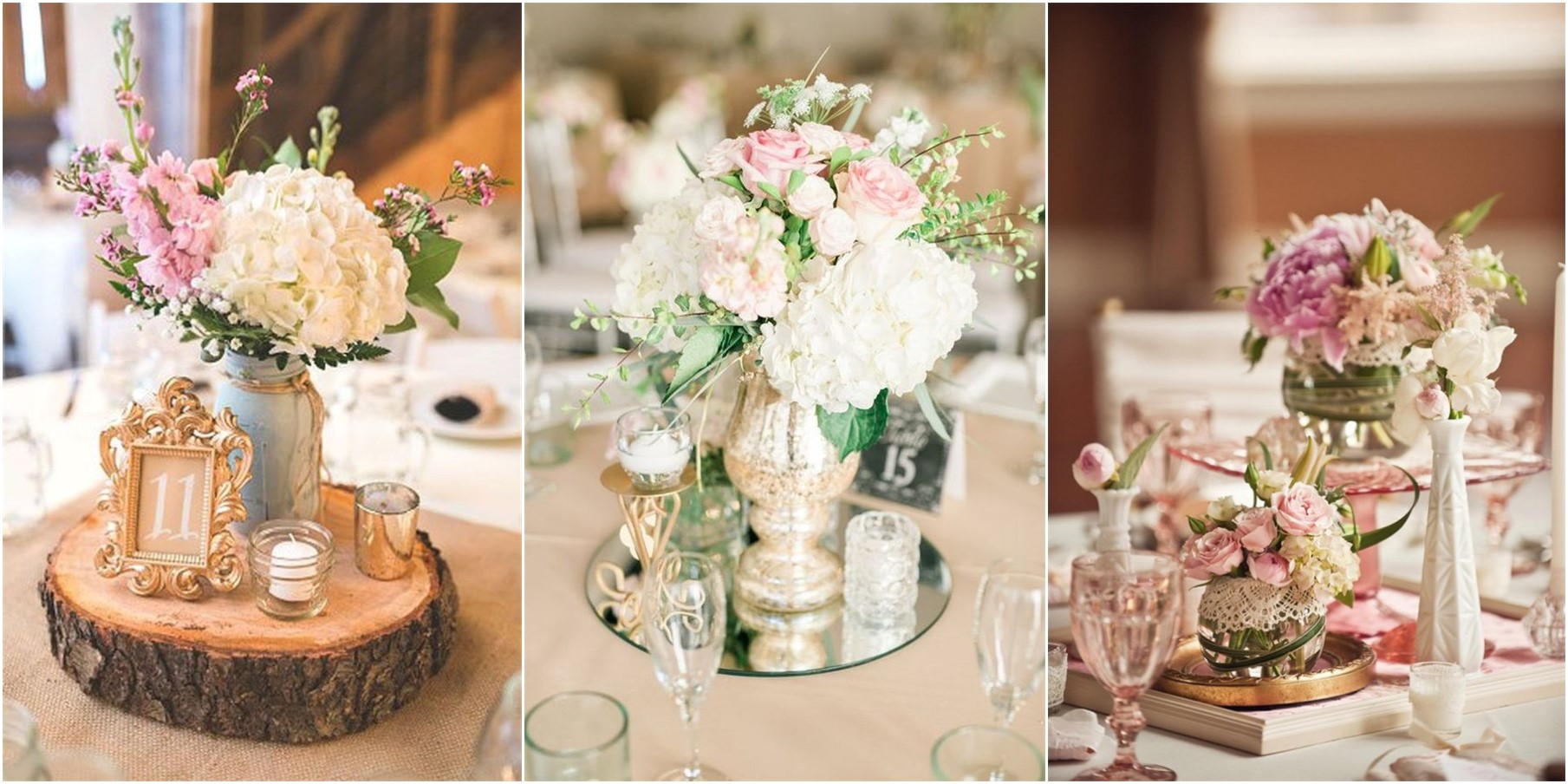 Vintage wedding centerpieces that take your to