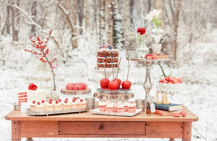 24 eye catching red winter wedding ideas you will never regret having junglespirit Image collections