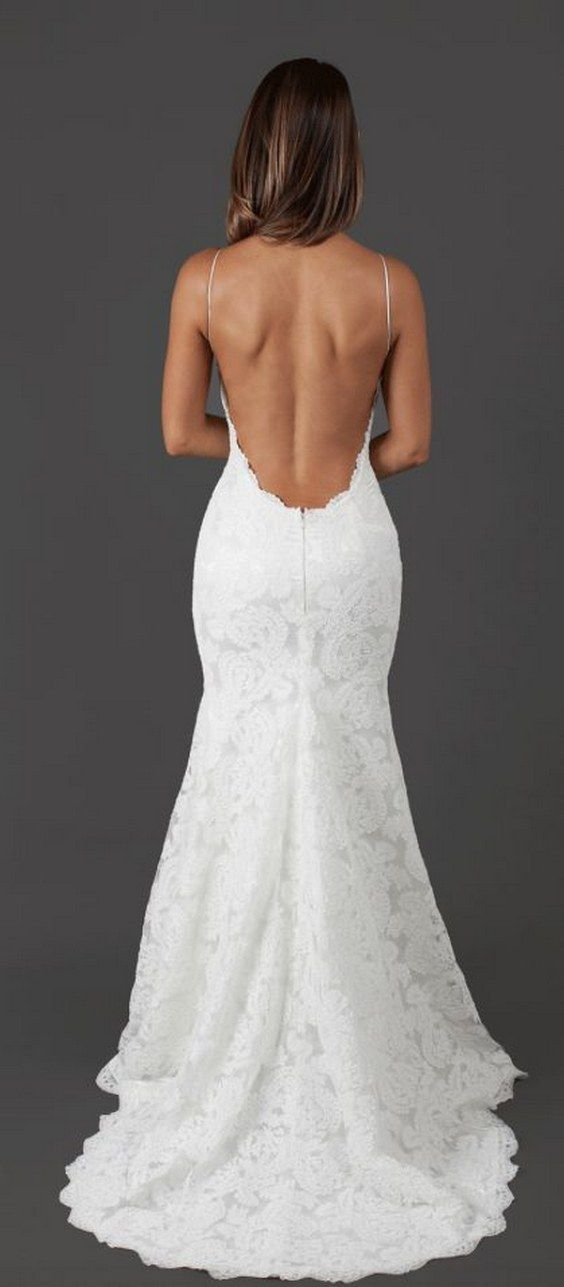 Stunning Open Back Wedding Dresses That Wow 001