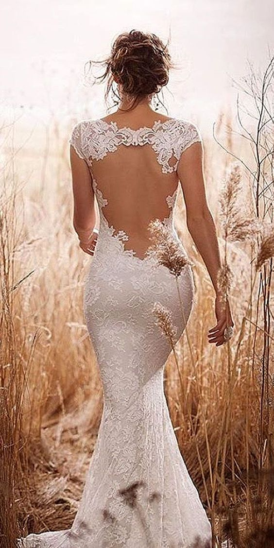 Stunning Open Back Wedding Dresses That Wow 004