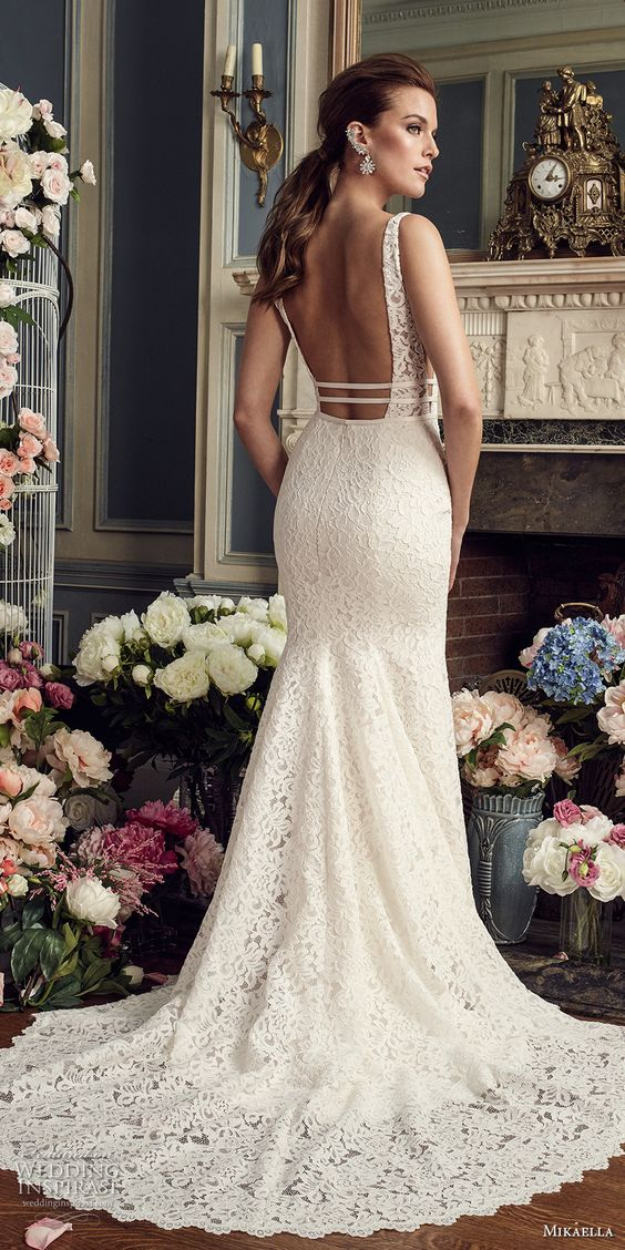 Stunning Open Back Wedding Dresses That Wow 007