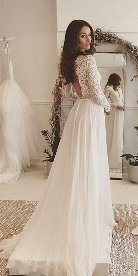 Stunning Open Back Wedding Dresses That Wow 008
