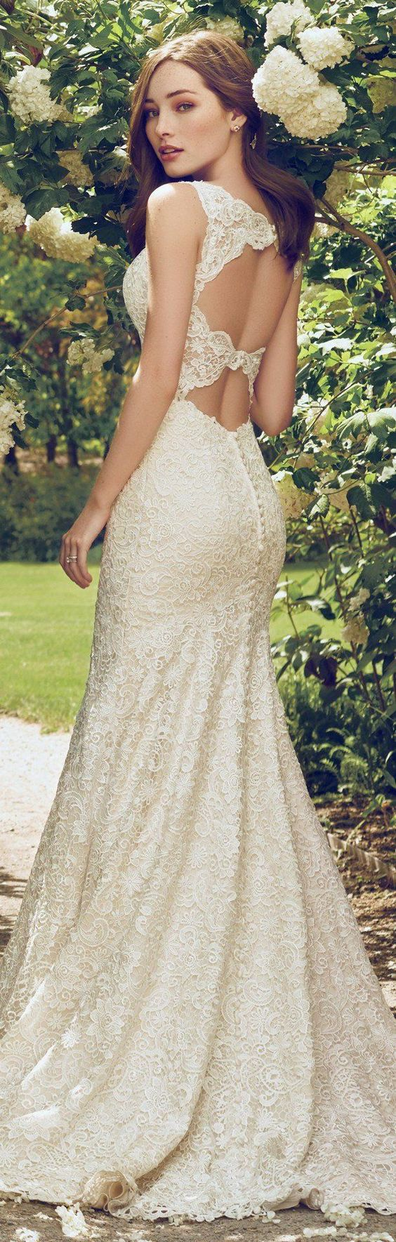 Stunning Open Back Wedding Dresses That Wow 011
