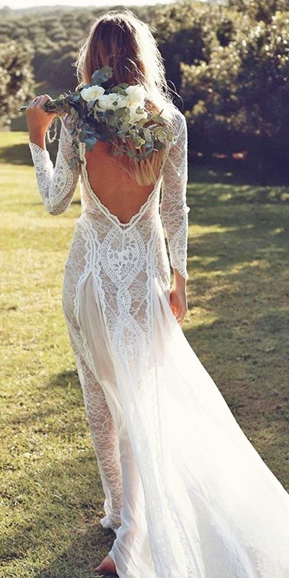 Stunning Open Back Wedding Dresses That Wow 018