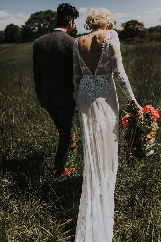 Stunning Open Back Wedding Dresses That Wow 020jpg