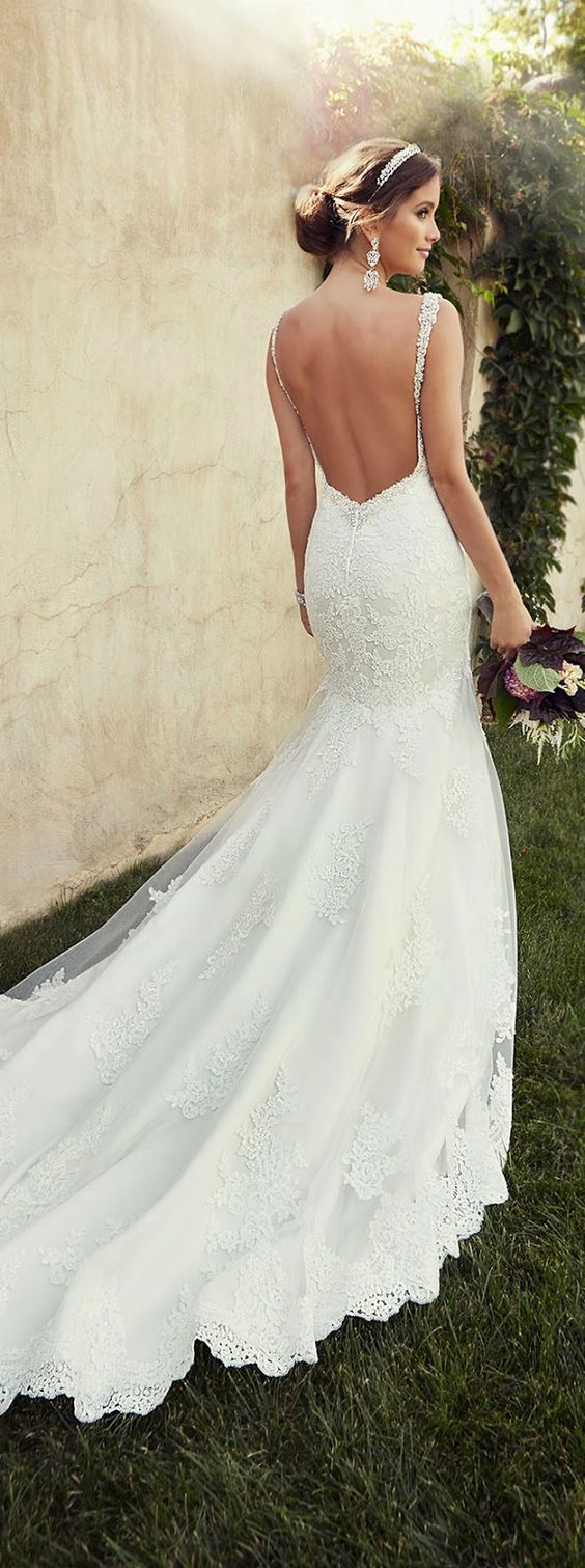 Stunning Open Back Wedding Dresses That Wow 022