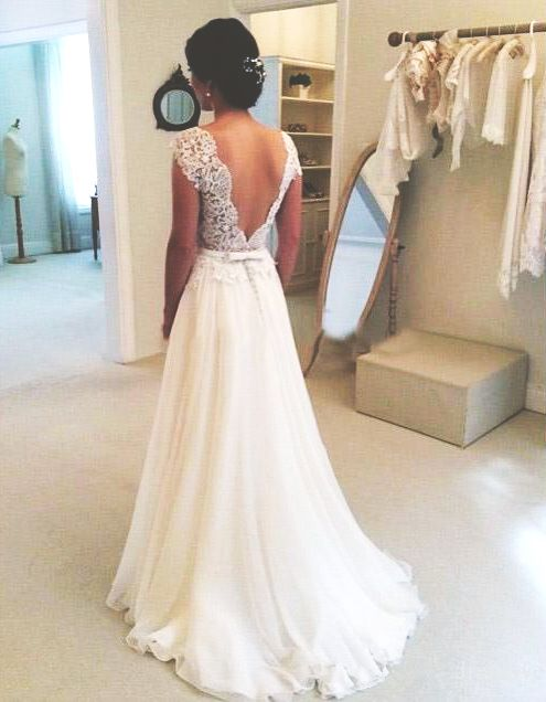 Stunning Open Back Wedding Dresses That Wow 033