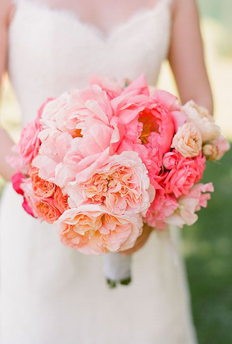 Super picture-perfect peony wedding bouquets you will adore 022