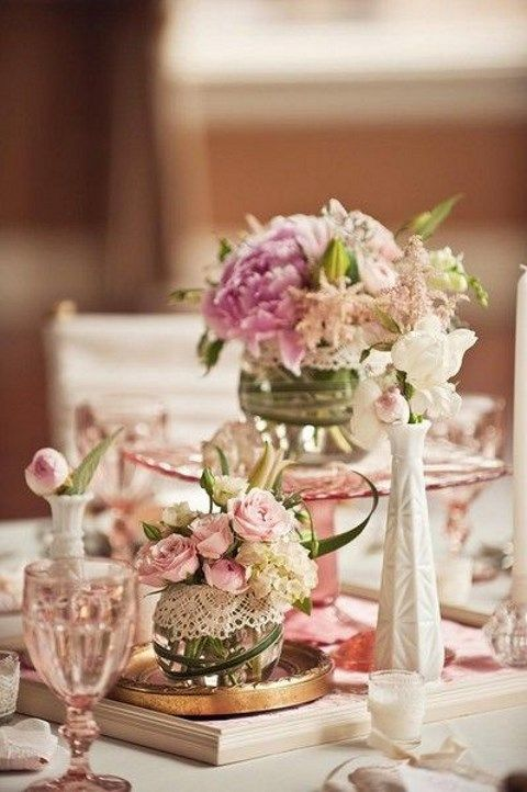 Vintage Wedding Centerpieces That Take Your Wedding to a New Level 014