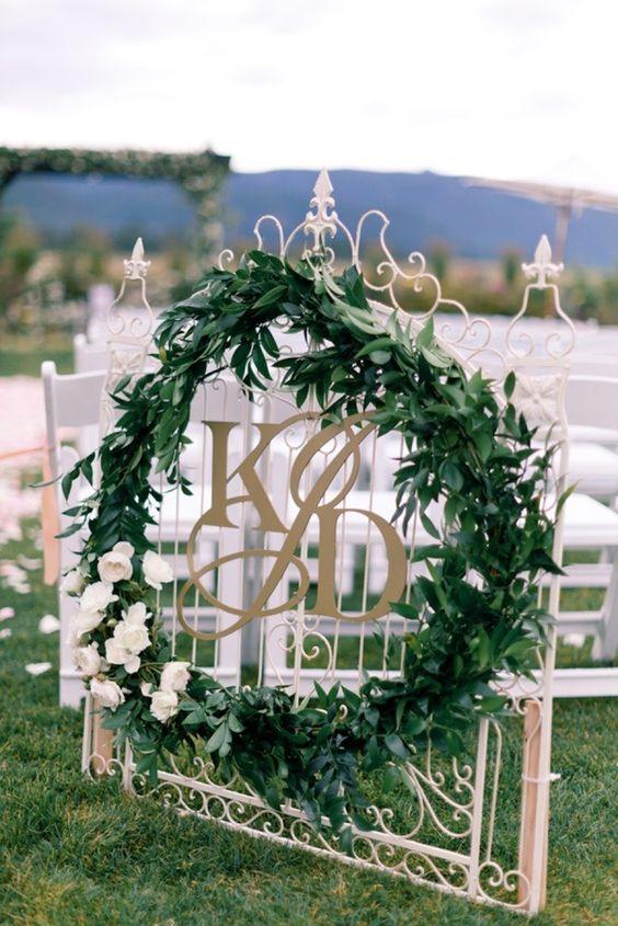 Wedding Monogram Decoration Ideas That Wow 017