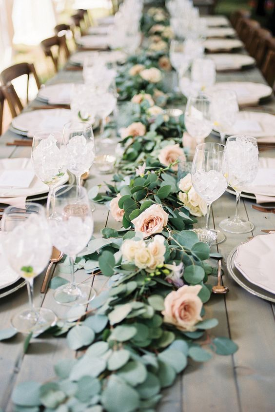 hottest floral wedding table runner