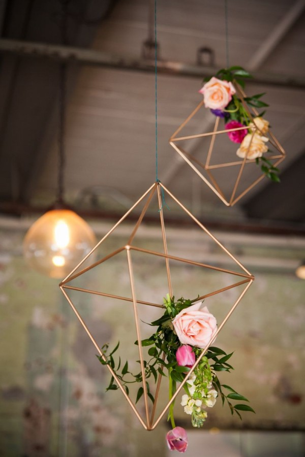 Modern Industrial Geometric Wedding Ideas 030