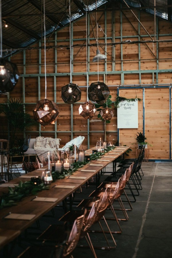warehouse wedding decor 25 modern industrial geometric wedding ideas 8365