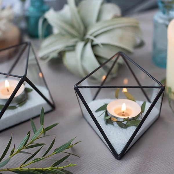 Modern Industrial Geometric Wedding Ideas 010