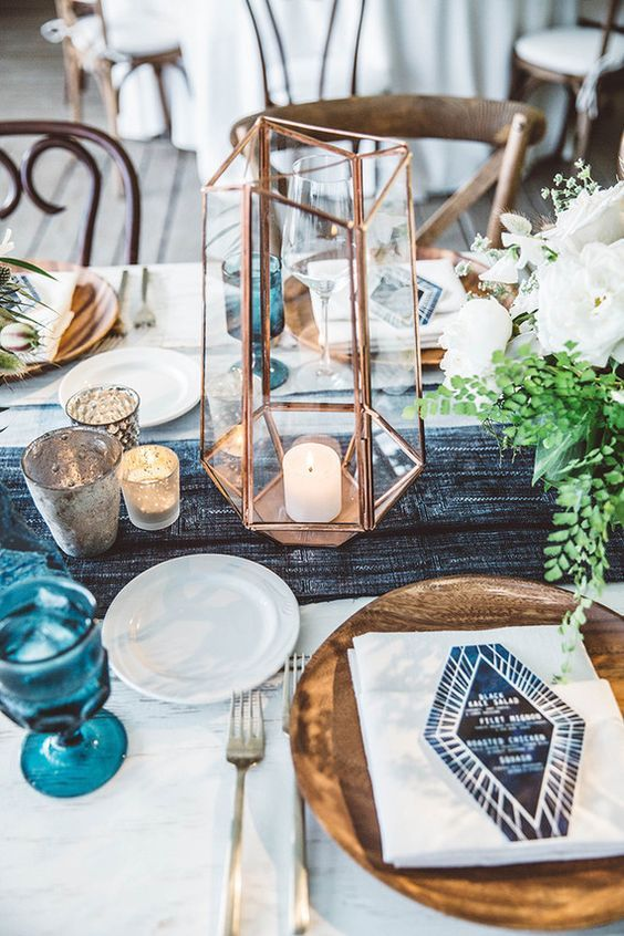 Modern Industrial Geometric Wedding Ideas 011