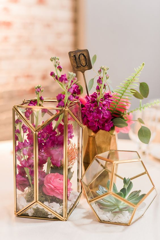 Modern Industrial Geometric Wedding Ideas 012