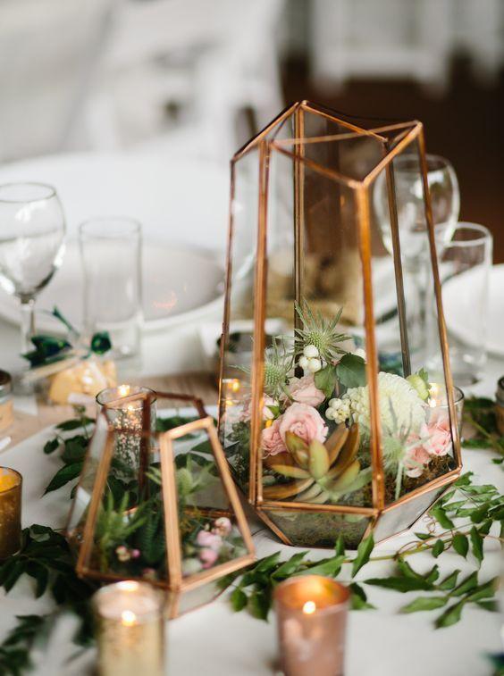Modern Industrial Geometric Wedding Ideas 016