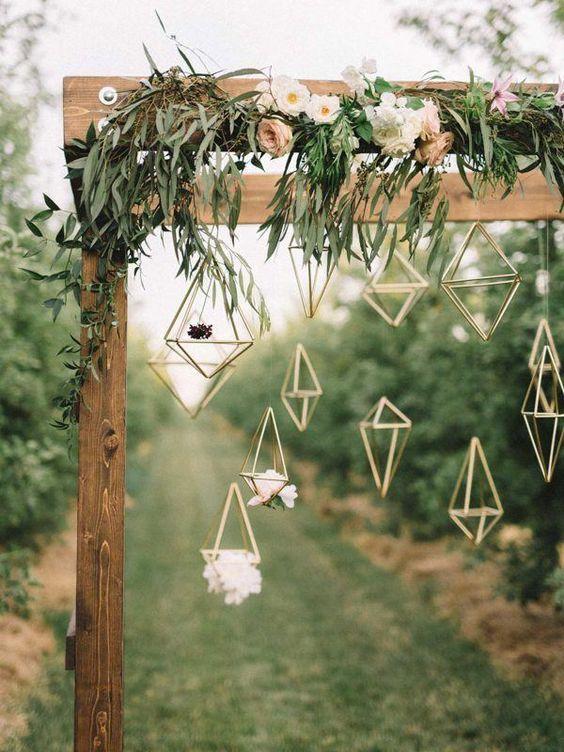 Modern Industrial Geometric Wedding Ideas 018
