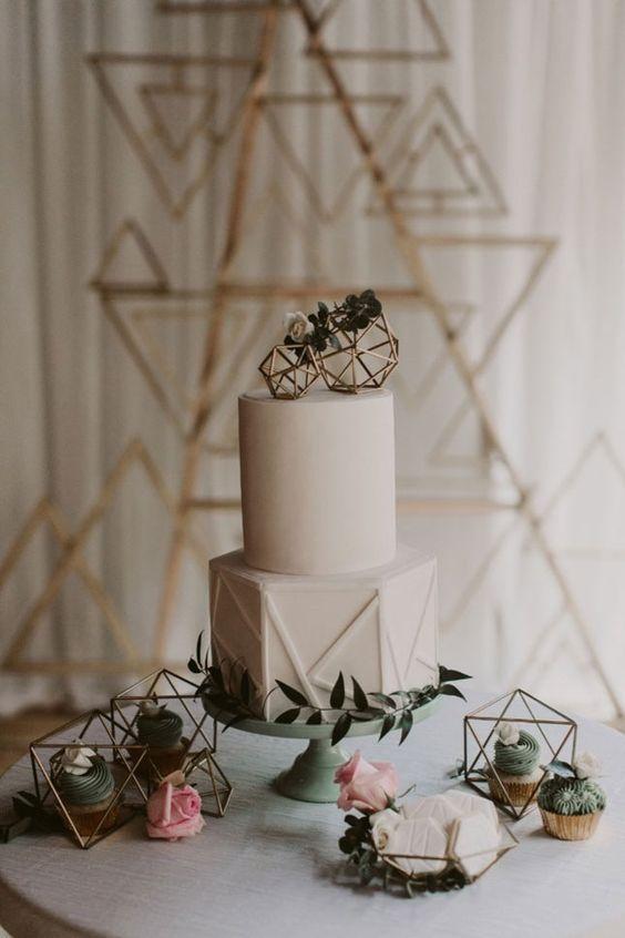 Modern Industrial Geometric Wedding Ideas 020
