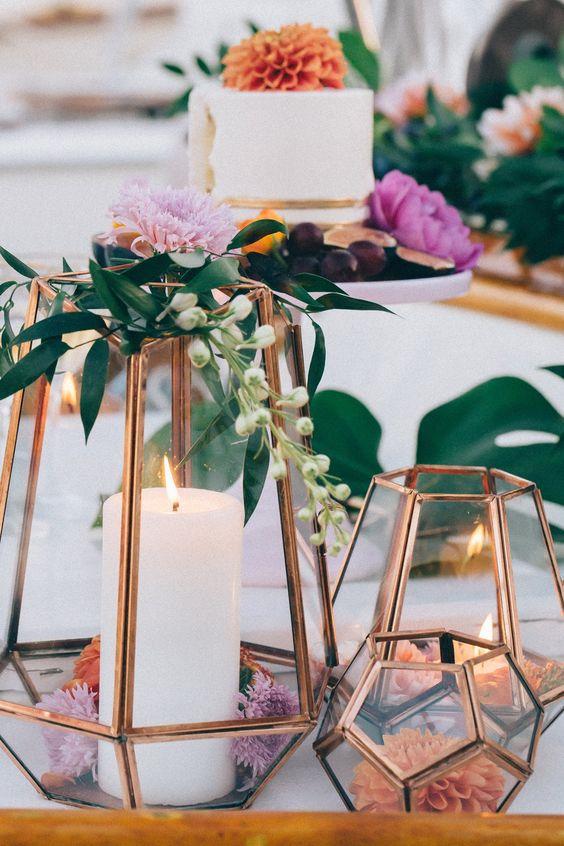 Modern Industrial Geometric Wedding Ideas 023