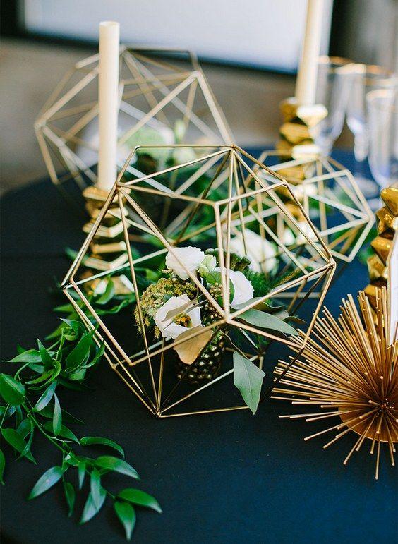 Modern Industrial Geometric Wedding Ideas 025