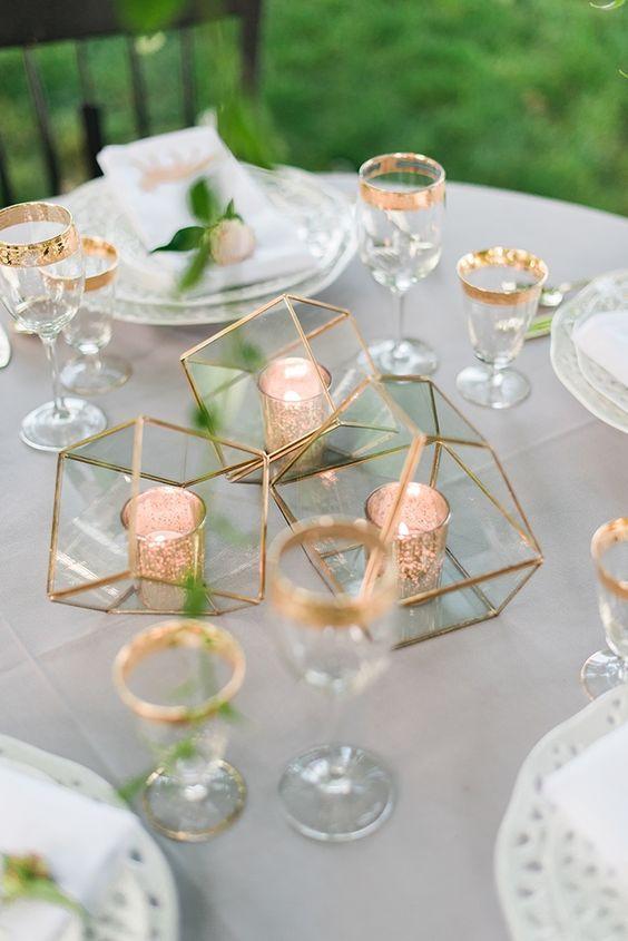 Modern Industrial Geometric Wedding Ideas 027