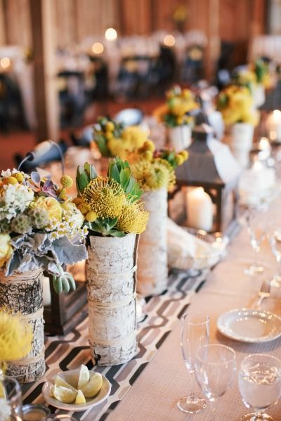Rock Your Winter Wedding with Birch Centerpieces 004