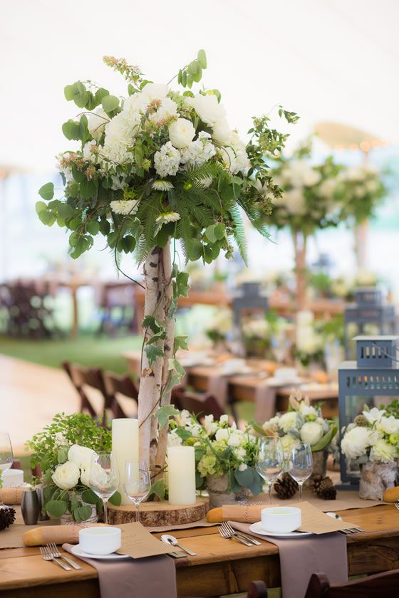 Rock Your Winter Wedding with Birch Centerpieces 006